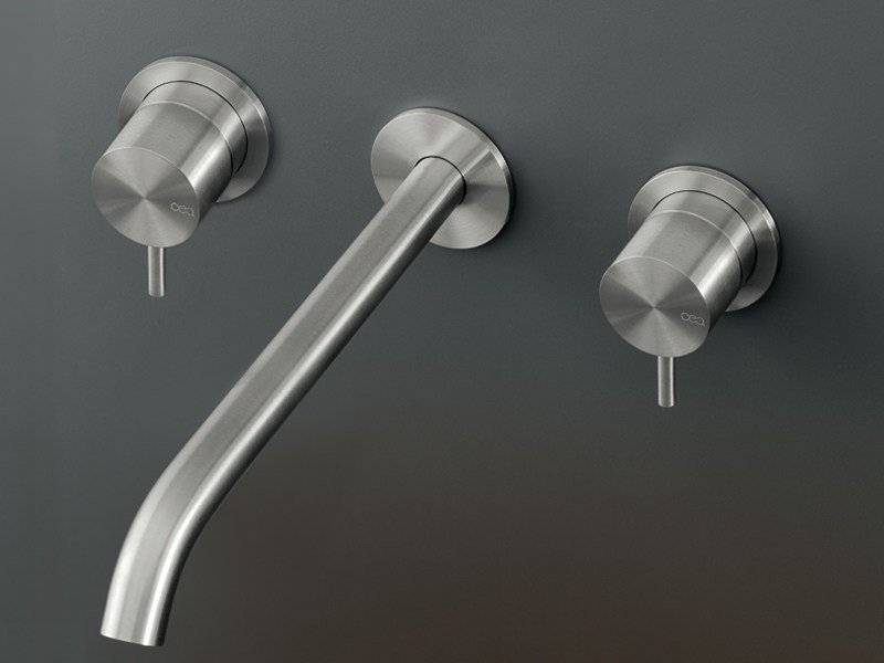 Wall mounted set of 2 individual taps with spout MIL 107 by Ceadesign