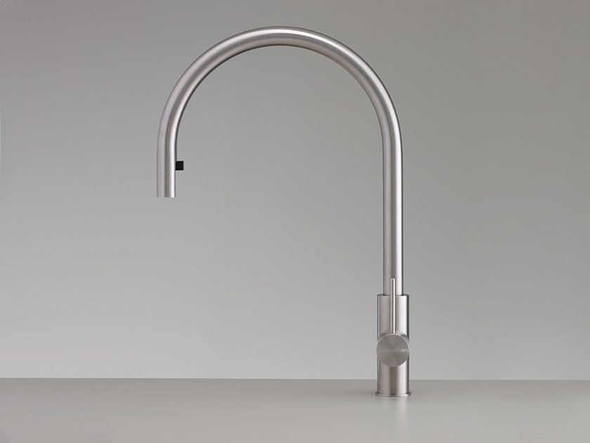 1 hole stainless steel kitchen mixer tap with pull out spray MIL 201 by Ceadesign