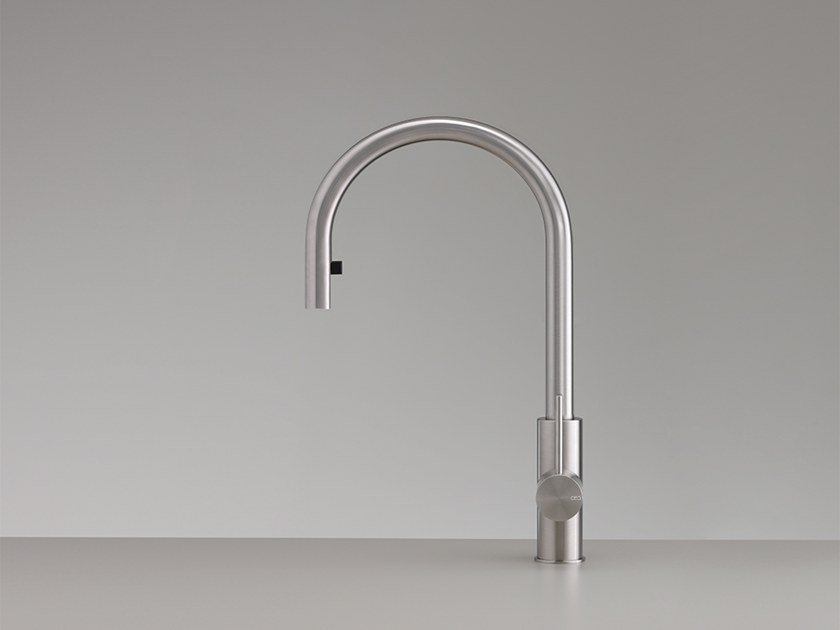 1 hole stainless steel kitchen mixer tap with pull out spray MIL 202 by Ceadesign