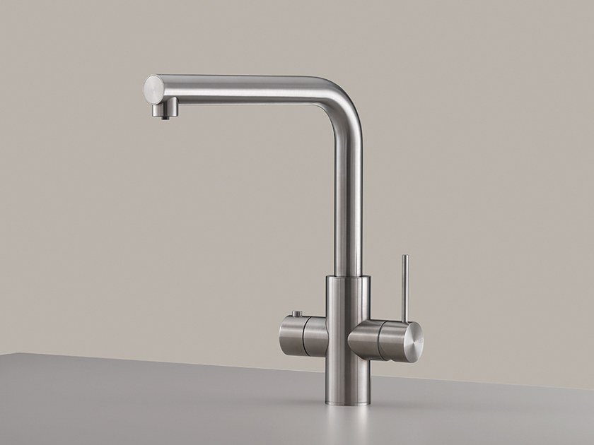 1 hole stainless steel kitchen mixer tap with swivel spout MIL 206 by Ceadesign