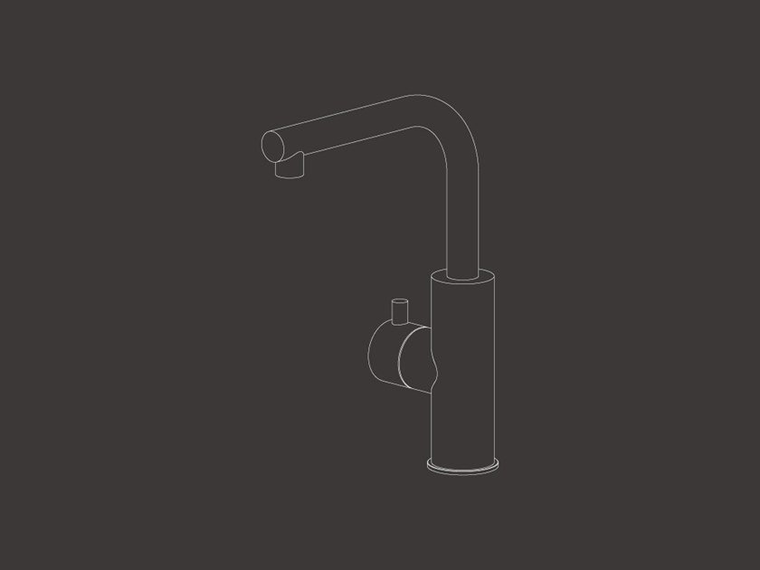 Deck mounted shut-off valve for instantaneous boiling water MIL 208 by Ceadesign