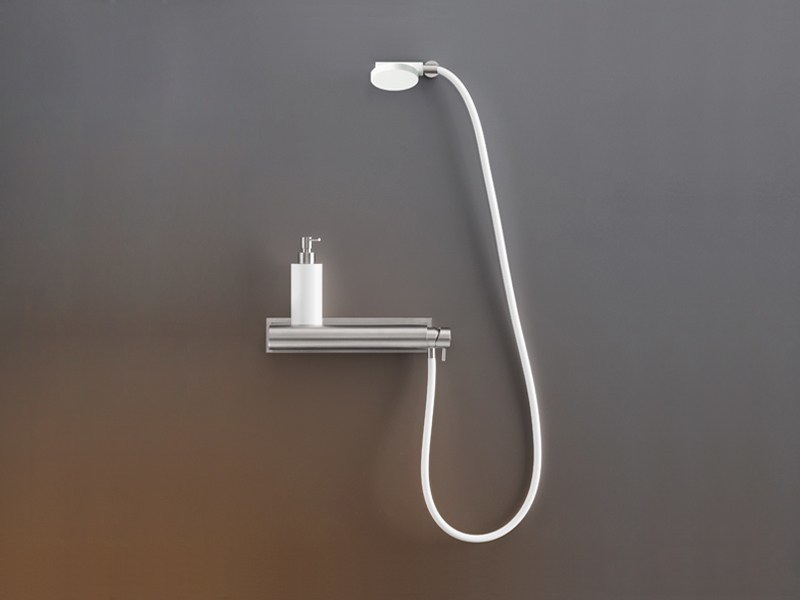 Wall mounted external mixer set with hand shower MIL 98 by Ceadesign