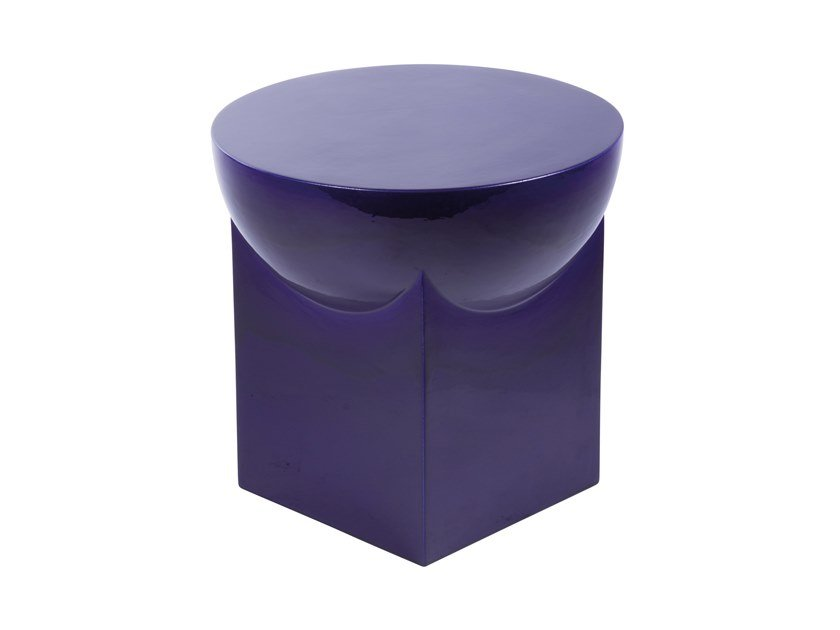 Round ceramic coffee table MILA SMALL by pulpo