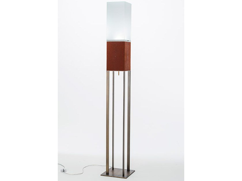 LED leather floor lamp LITTA | Floor lamp by OAK