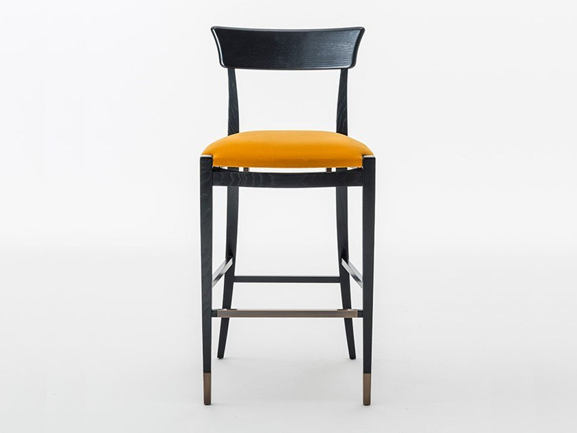 High upholstered stool with footrest NUOVA | High stool by OAK