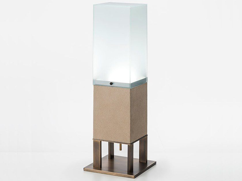 LED leather table lamp LITTA | Table lamp by OAK