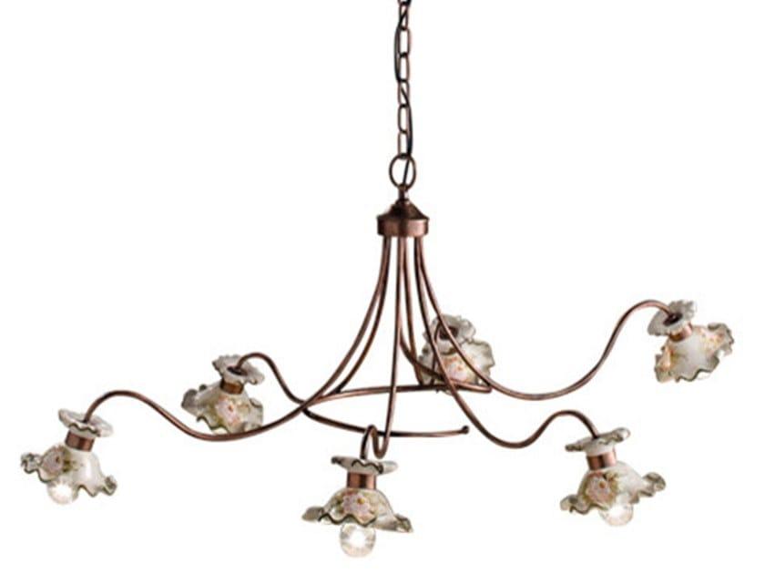 Ceramic chandelier MILANO | Chandelier by FERROLUCE