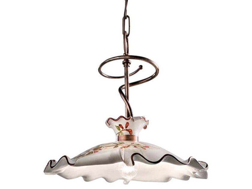 Ceramic and metal pendant lamp MILANO | Pendant lamp by FERROLUCE
