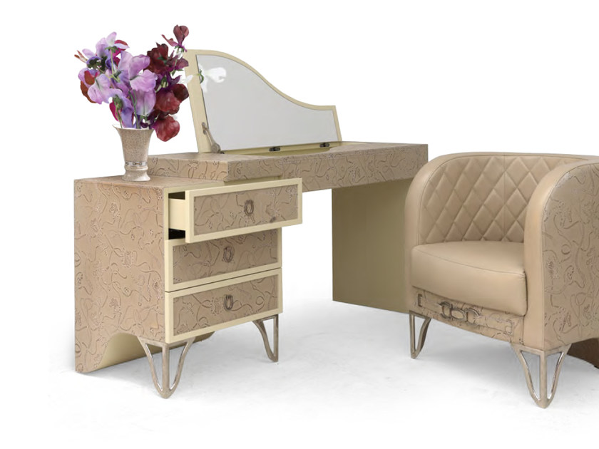 Leather dressing table MILLA | Dressing table by Formitalia