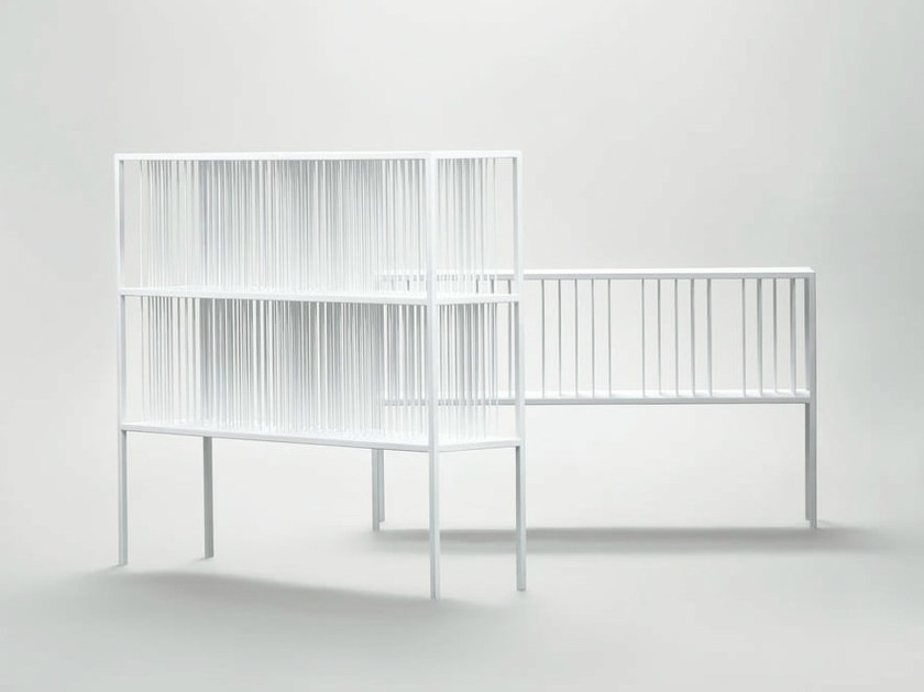 Lacquered metal bookcase MILLE RIGHE by da a