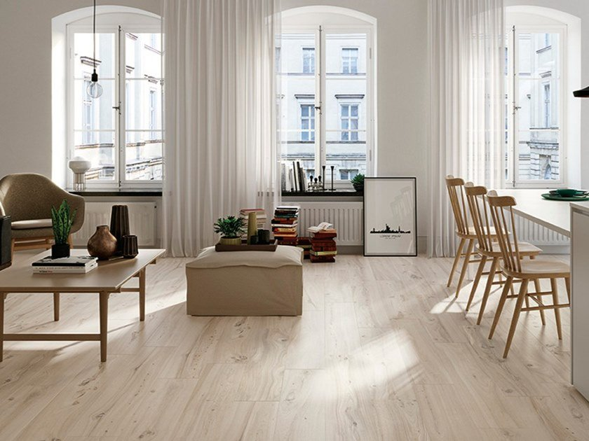 Porcelain stoneware flooring with wood effect MILLELEGNI REMAKE OLMO SBIANCATO by EmilCeramica by Emilgroup