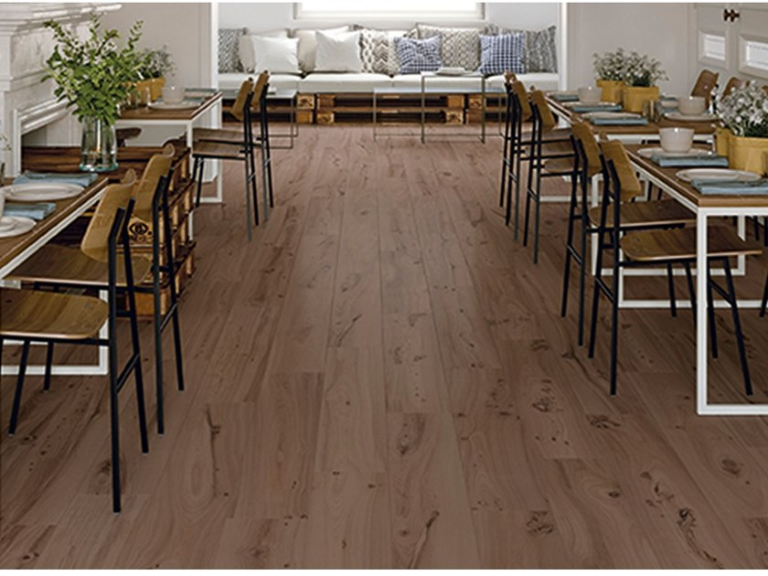 Porcelain stoneware flooring with wood effect MILLELEGNI REMAKE OLMO TINTO by EmilCeramica by Emilgroup