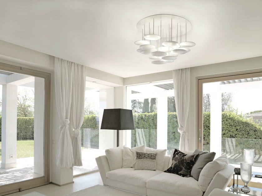LED aluminium ceiling lamp MILLELUMEN CIRCLES | LED ceiling lamp by millelumen