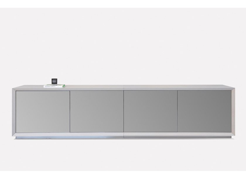 Lacquered oak sideboard with doors MILLENIAL by MORADA