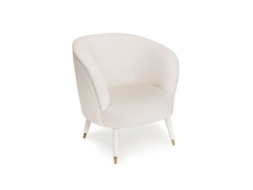 Upholstered fabric chair with armrests MILLER by ANA ROQUE INTERIORS