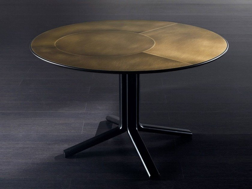 Round brass table MILLER | Brass table by Meridiani