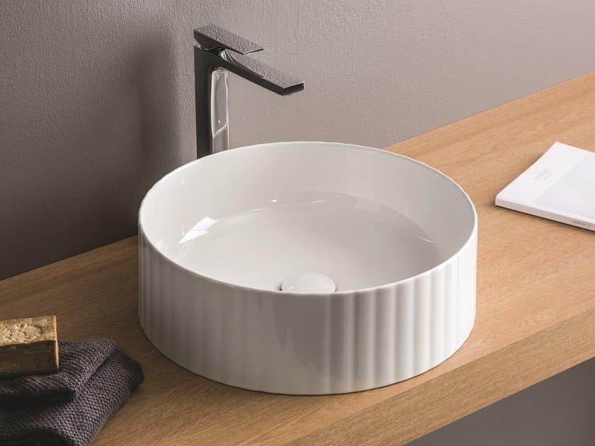 Countertop round ceramic washbasin MILLERIGHE by Artceram