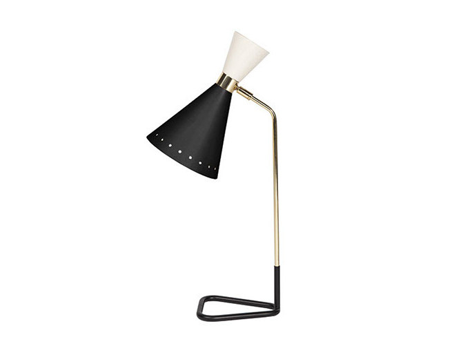 Brass desk lamp with fixed arm MILWAUKEE | Desk lamp by Gianfranco Ferré