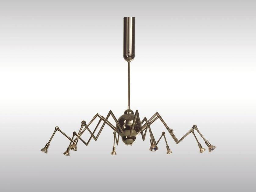 Lampadario in ottone in stile classico MIMI by Woka Lamps Vienna