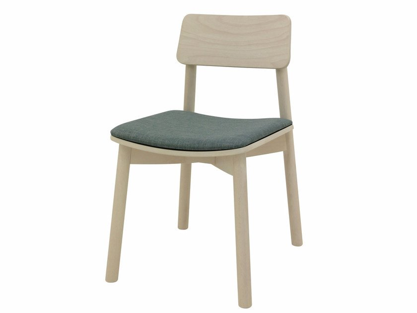 Upholstered fabric chair MINE 01 by Z-Editions