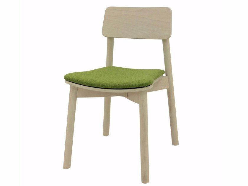 Upholstered fabric chair MINE 01 ST by Z-Editions