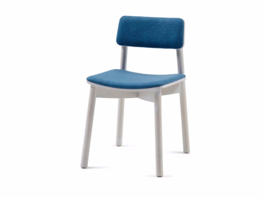 Upholstered fabric chair MINE 04 by Z-Editions