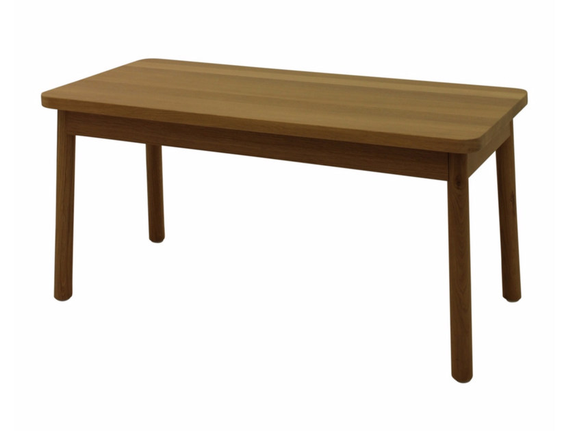 Wooden bench MINE BENCH by Z-Editions