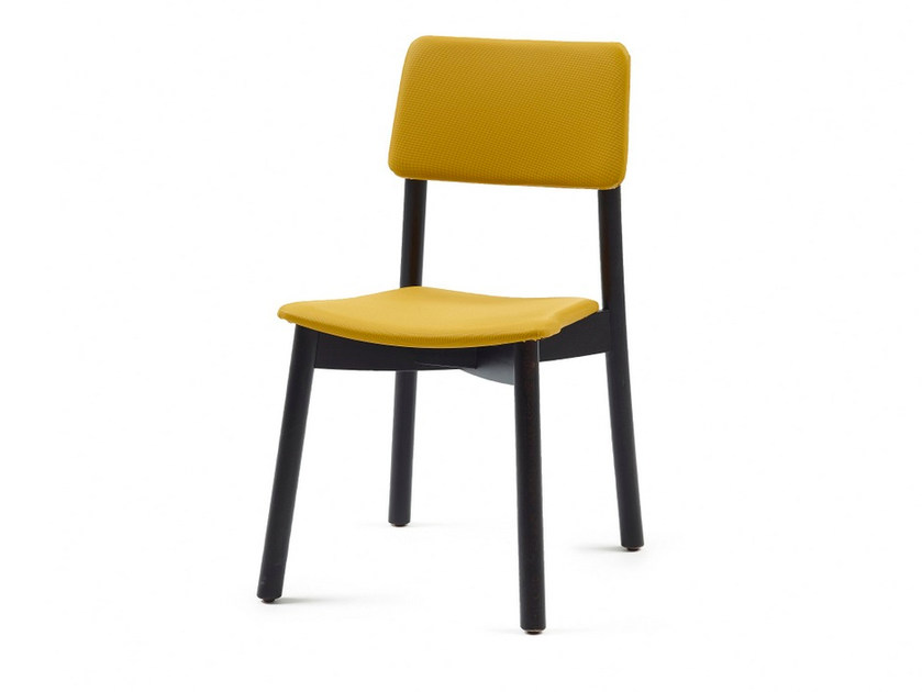 Upholstered fabric chair MINE HB by Z-Editions