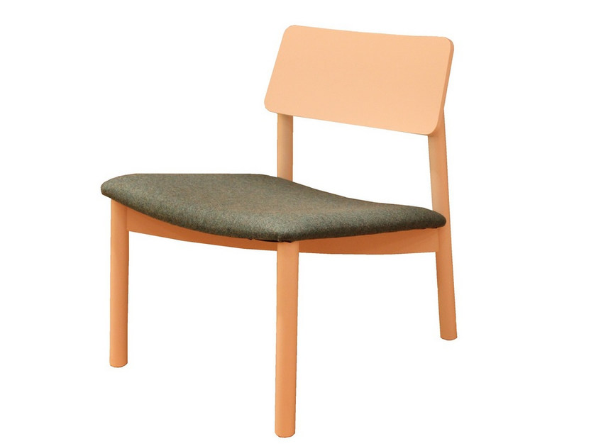 Upholstered fabric easy chair MINE LOUNGE 01 by Z-Editions
