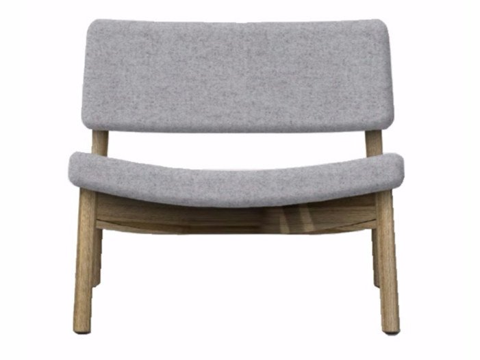 Upholstered fabric easy chair MINE LOUNGE 04 by Z-Editions