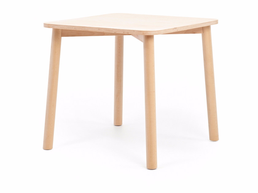 Square wooden table MINE T H76 by Z-Editions