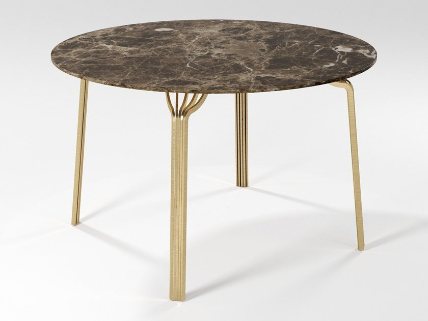 Round marble dining table MING | Dining table by Barel