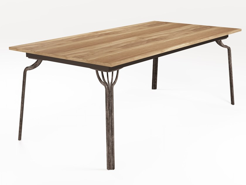 Extending rectangular wooden dining table MING | Rectangular table by Barel