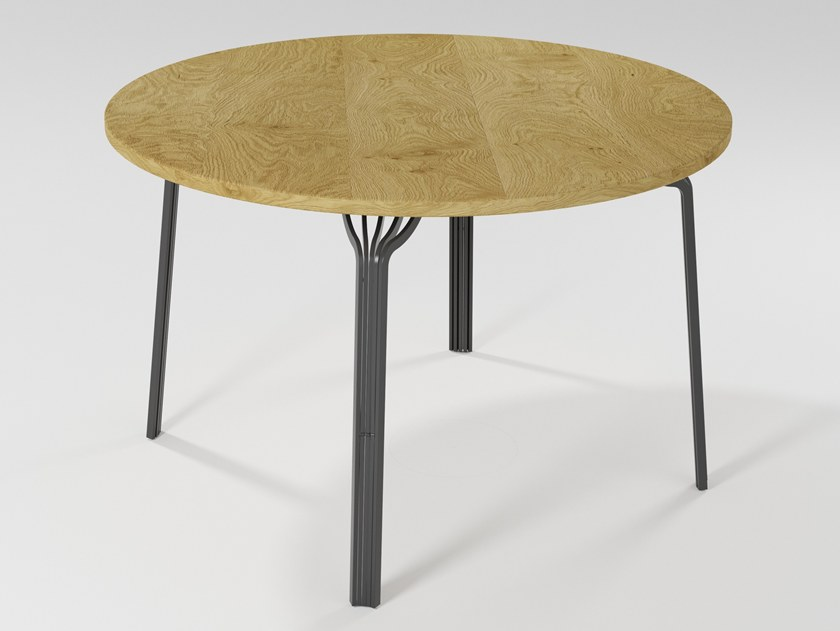 Round wooden dining table MING | Wooden table by Barel
