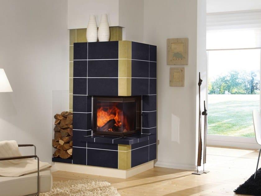 Wood Burning Corner Fireplace Insert