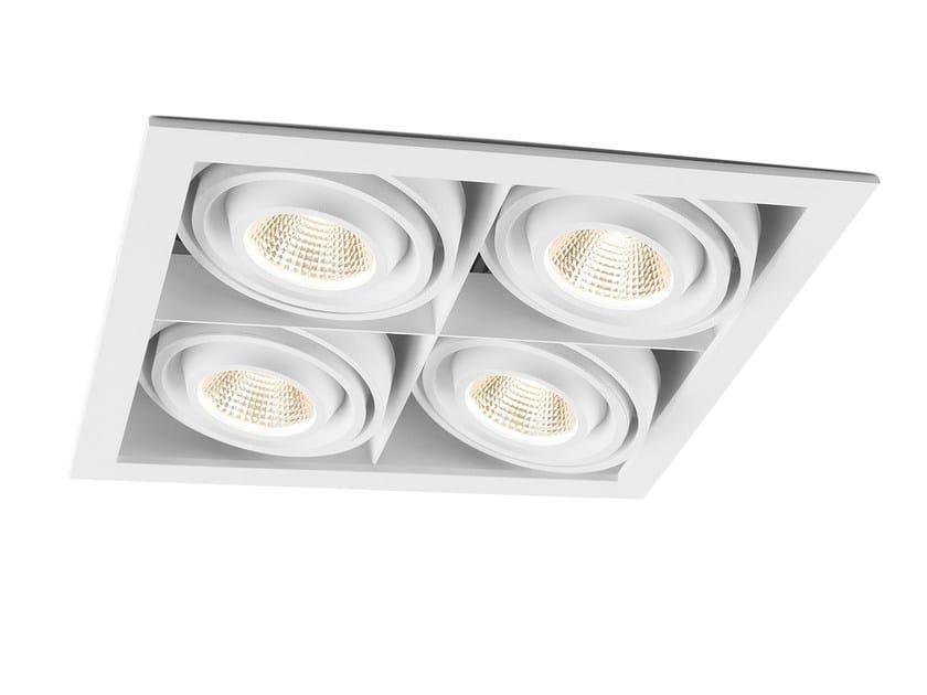 Ceiling recessed spotlight mini multiple 4 mini multiple ceiling recessed spotlight mini multiple 4 by modular lighting instruments aloadofball Images