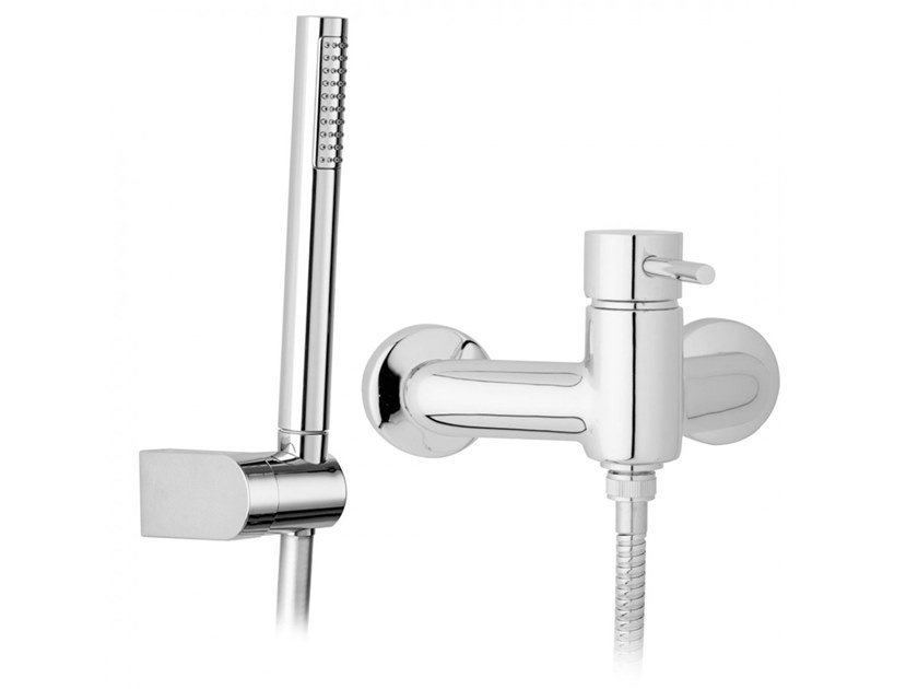 2 hole external shower mixer with hand shower MINI | Shower mixer with hand shower by BIANCHI RUBINETTERIE