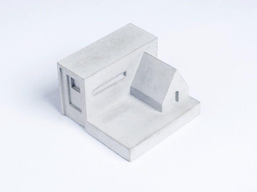 Concrete Furniture knob / architectural model Miniature Home Concrete #8 by mim studio