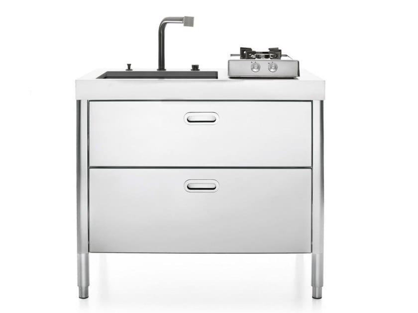 Stainless steel Kitchen unit MINICUCINA 100 | Kitchen unit by ALPES-INOX