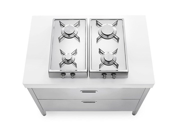 Stainless steel Kitchen unit for hob MINICUCINA 100 | Kitchen unit for hob by ALPES-INOX