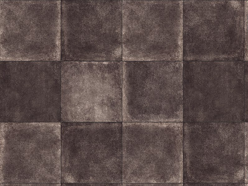 Porcelain stoneware outdoor floor tiles with stone effect MINIERA BLACK 3 CM by GRANULATI ZANDOBBIO
