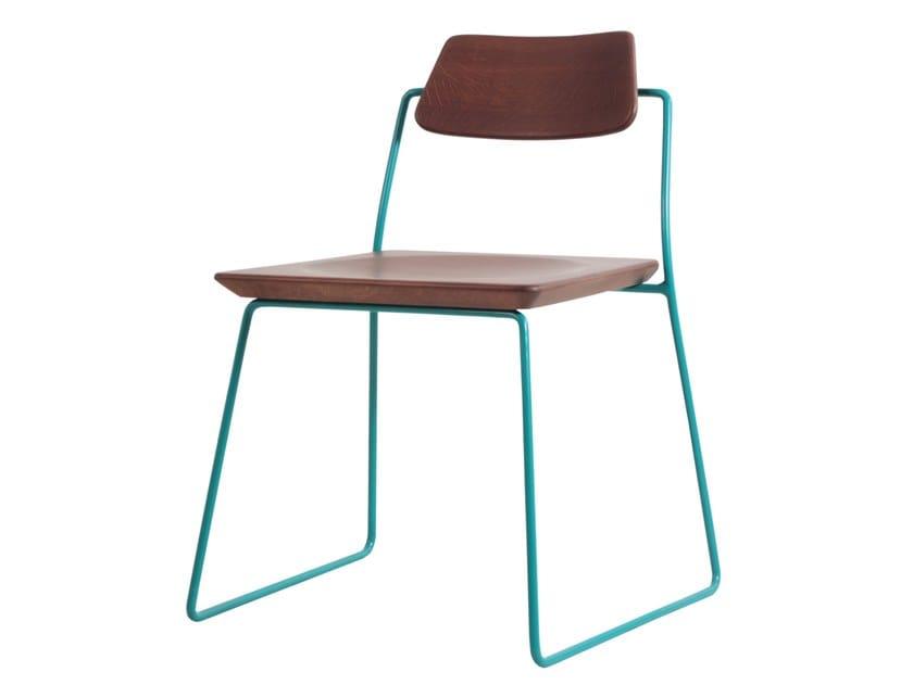 Sled base beech chair MINIK | Beech chair by ALANKARAM