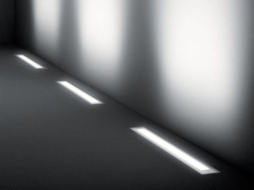 Segnapasso a LED a pavimento in alluminio estruso per esterni MINILINEAR by SIMES