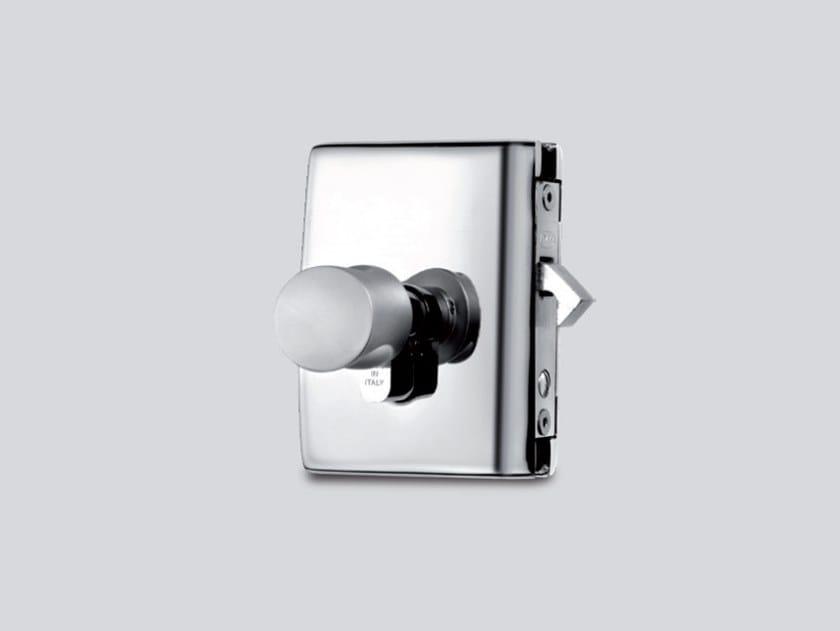 Glass door lock MINIMA BATTUTA V-518 | V-519 | V-520 by Metalglas Bonomi