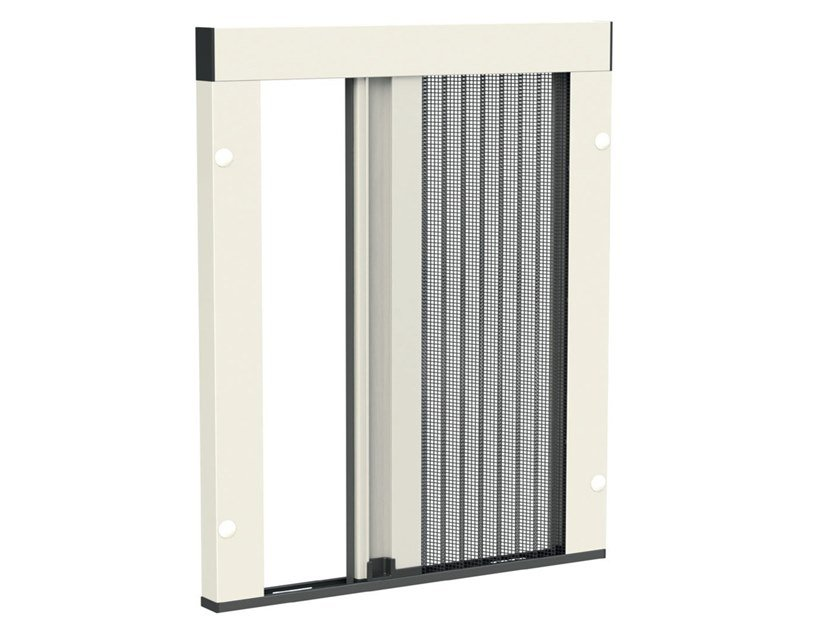 Pleated insect screen with guide system MINIMA UP | Insect screen with guide system by Mv Line
