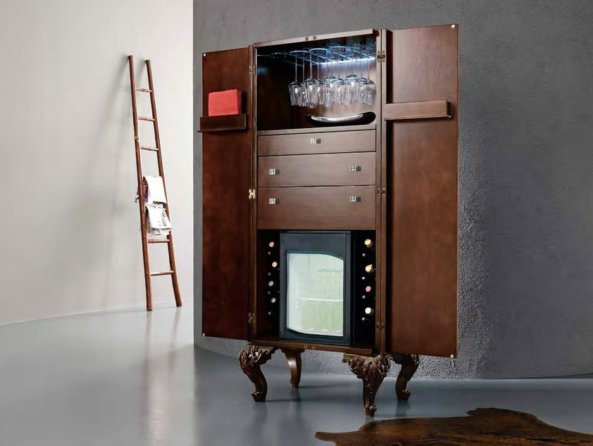Wooden bar cabinet MINIMAL BAROQUE | Bar cabinet by Modenese Gastone