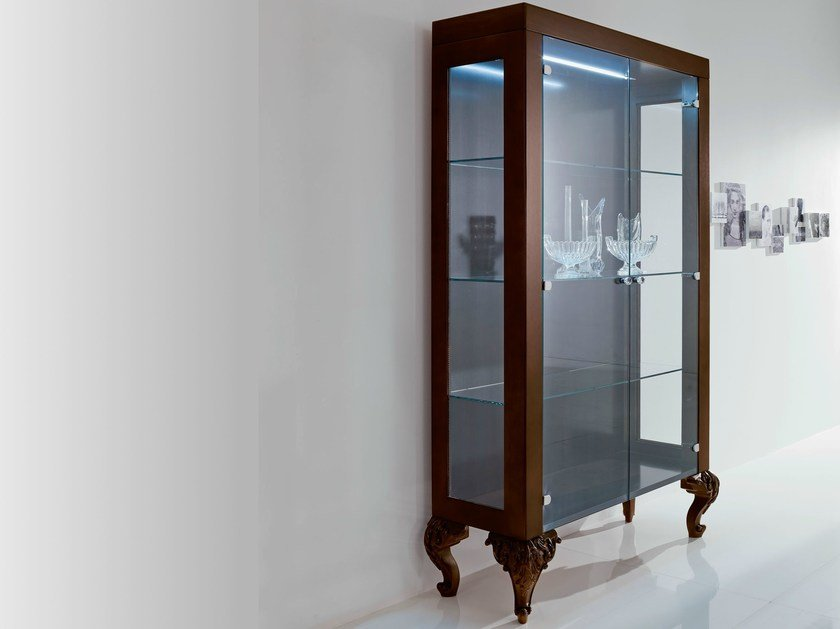 Display cabinet with integrated lighting MINIMAL BAROQUE   Display cabinet with integrated lighting by Modenese Gastone