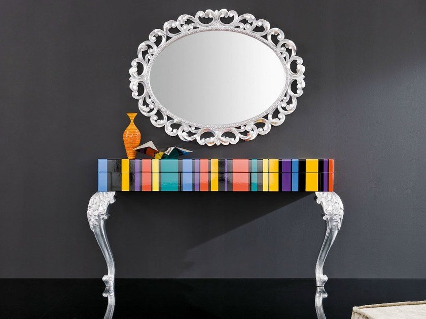 Lacquered rectangular console table MINIMAL BAROQUE | Lacquered console table by Modenese Gastone
