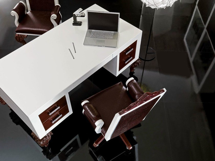 Lacquered rectangular writing desk MINIMAL BAROQUE | Lacquered writing desk by Modenese Gastone