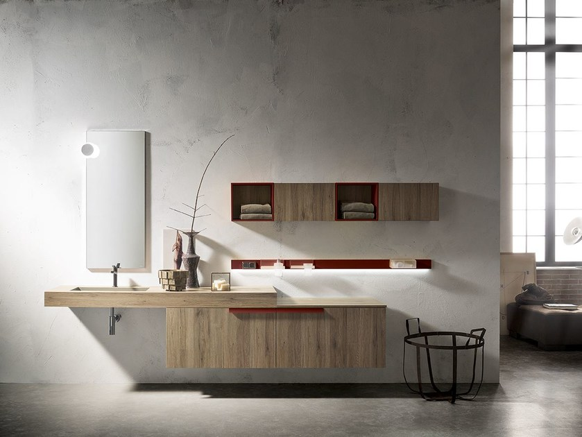 Single wall-mounted vanity unit MINIMAL PLAY 46/47 by Cerasa